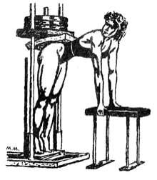 Упражнение для мышц голени на тренажере для жима ногами