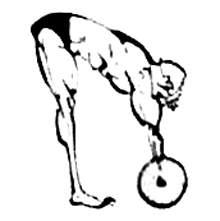 Становая тяга в соревновательном стиле с узкой постановкой ступней