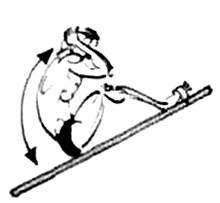 Подъемы туловища на наклонной доске с согнутыми коленями