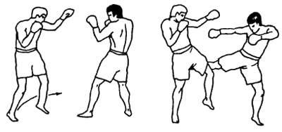 Движение по кругу в тайском боксе