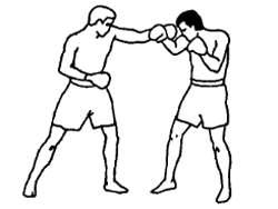Опускание вниз защищающей руки
