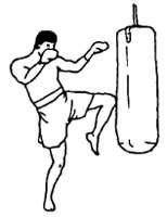 Нанесение ударов коленями в тайском боксе