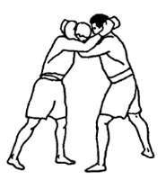 Захват за шею в тайском боксе