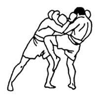 Удар левым коленом