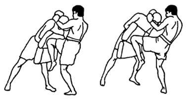 Работа с лапами в тайском боксе
