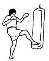 Удары ногами в тайком боксе