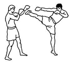 Отработка ударов ногами