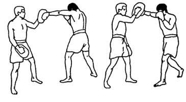 Отработка боковых ударов руками в муай тай