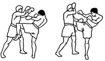 Круговой удар коленом по корпусу в муай тай