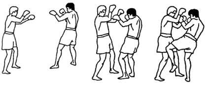 Круговой удар коленом по корпусу