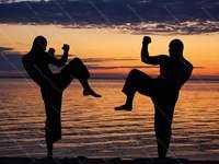 Проведение тренировочного боя в муай тай