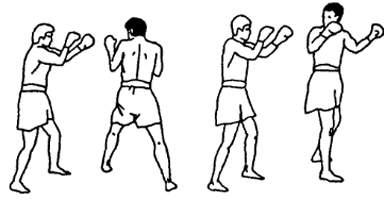 Удар рукой с разворота в тайском боксе