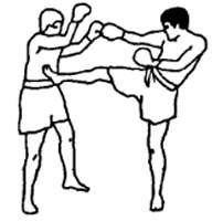 Боковой удар ногой в тайском боксе