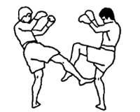 Круговой удар правой ногой