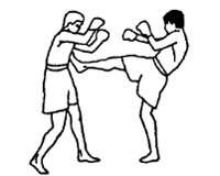 Контратака в муай тай: прямой удар ногой