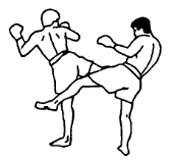 Круговой удар по опорной ноге противника