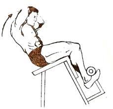 """Подъем туловища на """"римском стуле"""""""