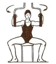 Упражнение для мышц груди на специальном тренажере
