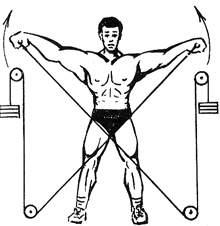 Упражнение для дельтовидных мышц на блоке