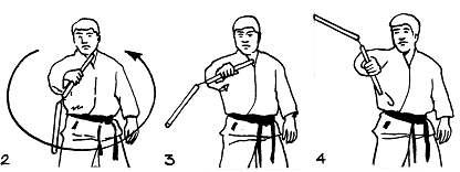 Смена захватов одной рукой (обратное вращение): уроки нунчаку